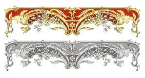 De grens van het ornament royalty-vrije illustratie