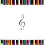 De grens van het pianotoetsenbord Stock Foto