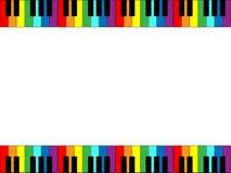 De Grens van het Toetsenbord van de piano Stock Afbeelding