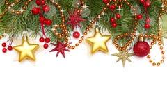 De grens van Kerstmis Stock Foto's