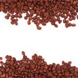 De grens van koffiebonen Stock Foto's