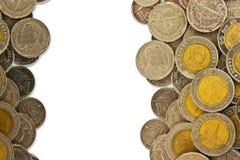 De grens van muntstukken royalty-vrije stock fotografie