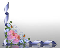 De grens van orchideeën vector illustratie