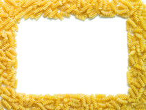 De grens van spiralendeegwaren Royalty-vrije Stock Afbeelding