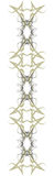 De Grens van Swirly Royalty-vrije Stock Afbeeldingen