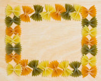 De Grens van vlinderdasdeegwaren Royalty-vrije Stock Foto