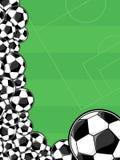 De grens van voetbalballen royalty-vrije illustratie