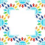 De grens van vredessymbolen stock illustratie