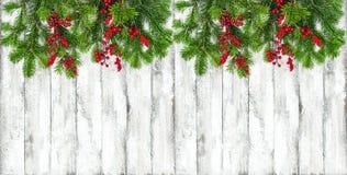 De grens van de de Wintervakantie van de Kerstmisdecoratie royalty-vrije stock afbeelding