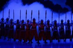 De grens wacht-vier handeling ` belemmerde inklaring ` - Epische de Zijdeprinses ` van het dansdrama ` royalty-vrije stock foto's