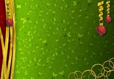 De grensachtergrond van Kerstmisdecoratie royalty-vrije stock afbeelding