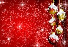 De grensachtergrond van Kerstmisdecoratie royalty-vrije stock afbeeldingen
