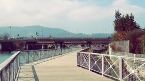 De Grensbrug van Frankrijk Spanje Stock Afbeelding