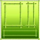 De grenselementen van het bamboe Stock Foto