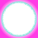 De grenskader van het cirkelgras royalty-vrije illustratie