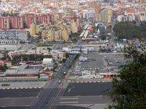 De grensovergang van Gibraltar/van Spanje Royalty-vrije Stock Afbeeldingen