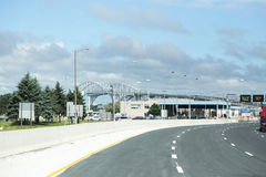De grensovergang van Sarniacanada de V.S. stock foto's