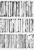De grensranden van Grunge Stock Afbeeldingen