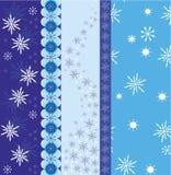 De grensvector van de sneeuwvlok royalty-vrije illustratie