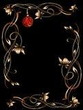 De grenszwarte van de kerstnacht Royalty-vrije Stock Foto