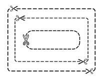 De grenzen van de coupon stock illustratie