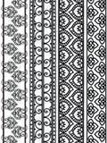 De Grenzen van de henna vector illustratie