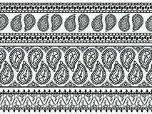 De Grenzen van de Henna van Paisley Stock Afbeelding