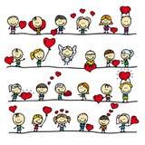 De grenzen van de liefde Stock Afbeelding