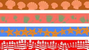 De grenzen van het strand stock illustratie