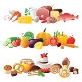 De grenzen van het voedsel royalty-vrije illustratie