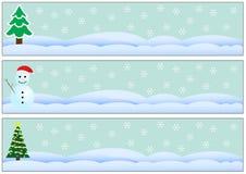 De grenzen van Kerstmis 3 stijlen Royalty-vrije Stock Afbeelding