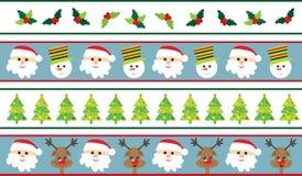 De grenzen van Kerstmis 3 stijlen Royalty-vrije Stock Fotografie