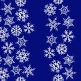 De grenzen van sneeuwvlokken met exemplaarruimte. Stock Foto