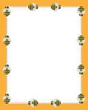 De grenzenframe van bijen Stock Afbeelding