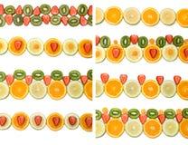 De grenzeninzameling van het fruit Stock Foto's