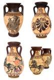 De Griekse Collage van Vazen Stock Foto