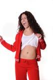 De Griekse kleren van de vrouwengymnastiek Stock Foto
