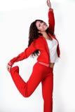 De Griekse kleren van de vrouwengymnastiek Stock Afbeeldingen