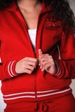 De Griekse kleren van de vrouwengymnastiek Stock Afbeelding