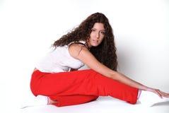 De Griekse kleren van de vrouwengymnastiek Royalty-vrije Stock Foto
