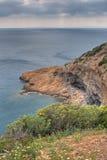 De Griekse kustlijn van Rockbound Royalty-vrije Stock Foto
