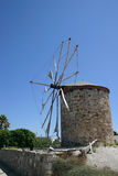 De Griekse Molen van de Wind Royalty-vrije Stock Foto's