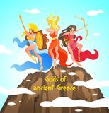De Griekse Mythologie wordt geschreven Goden van Oud Griekenland vector illustratie