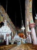 De Griekse Orthodoxe traditionele schilderijen in de Kerk van de Veronderstelling op het Griekse Eiland Rhodos stock foto