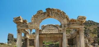 De Griekse stad Ephesus van de antiquiteit. Stock Foto