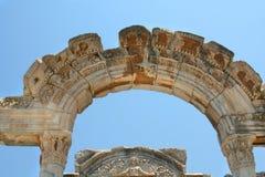 De Griekse stad van de antiquiteit. Boog Stock Afbeelding