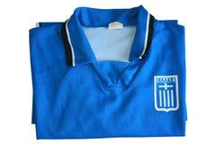De Griekse T-shirt van het Team van het Voetbal stock foto