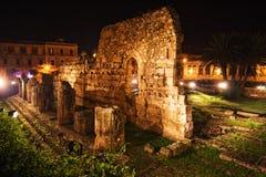 De Griekse Tempel Siracuse van Apollo Stock Afbeelding