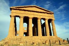De Griekse tempel van Concordia, Agrigento - Italië Royalty-vrije Stock Afbeelding