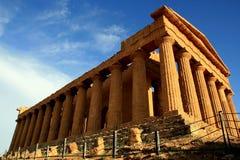 De Griekse tempel van Concordia, Agrigento - Italië Royalty-vrije Stock Afbeeldingen